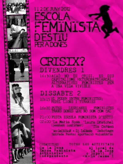 Enquesta de valoració de l'Escola Feminista d'Estiu 2012