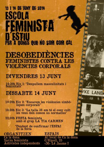 ESCOLA FEMINISTA D'ESTIU 2014