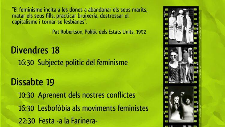 Escola Feminista d'Estiu, 3 i 4 de juny de 2011 al Centre de Cultura de Dones Francesca Bonnemaison