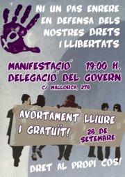 Manifestació: Avortament lliure i gratuït