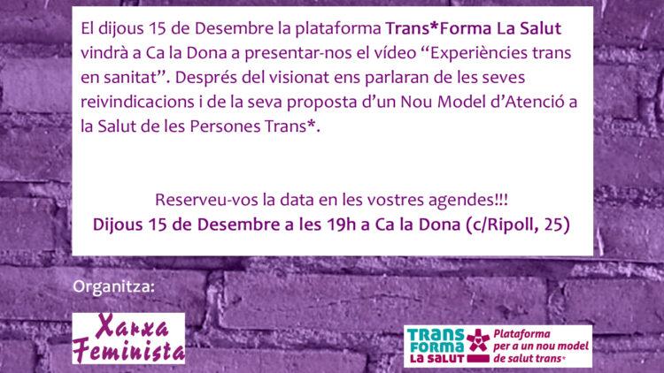 Activitat Trans*Forma La Salut