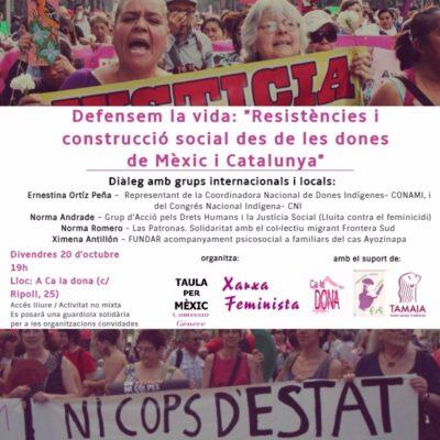 """20/10:: [DIÀLEGS] """"Resistències i construcció social des de les dones de Méxic i Catalunya"""""""