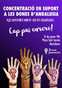 Concentració en suport a les dones d'andalusia