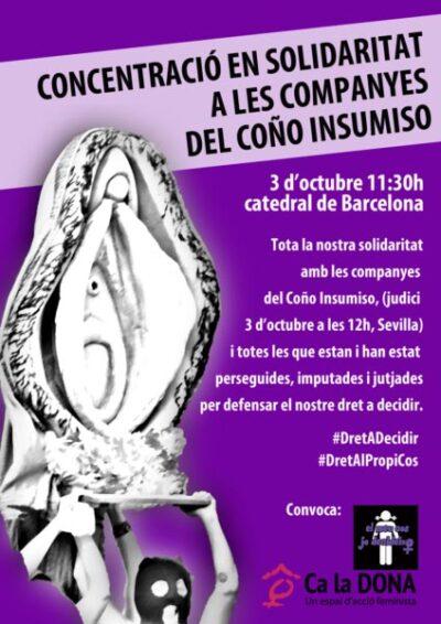 3/10::. Concentració en solidaritat amb les companyes del Coño Insumiso