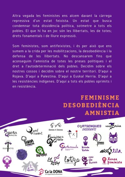 Feminisme Desobediència Amnistia