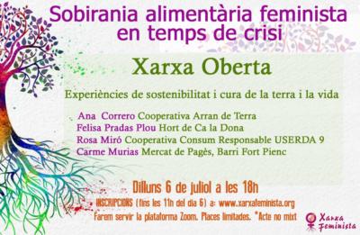 XARXA OBERTA: Sobirania alimentària feminista en temps de crisi